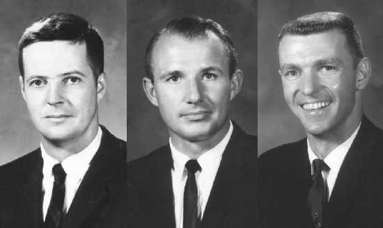 NASA astronauts Joe Kerwin, Vance Brand, and Joe Engle.