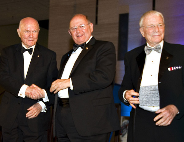Governors John Glenn and Art Dula, along with Scott Carpenter at ISDC 2012 in Washington, DC