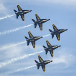 The Blue Angels fly F-18 Hornets, made in St. Louis.