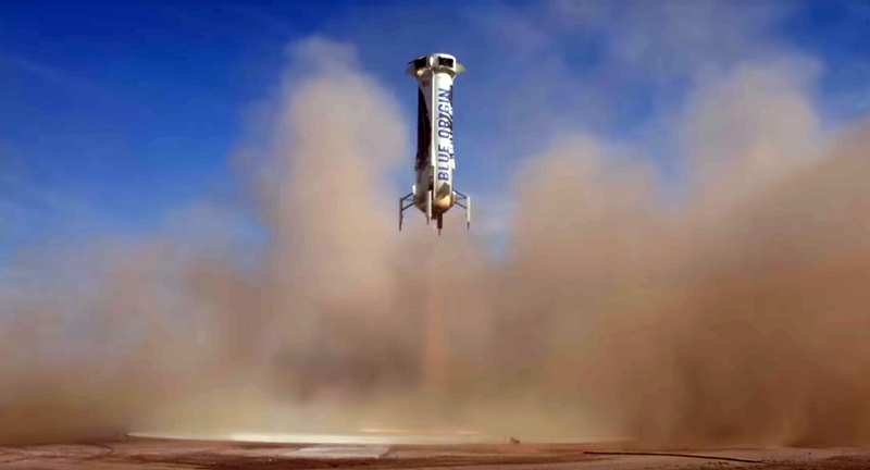 Fifth Landing of New Shepard (Credit: Blue Origin)
