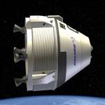 Rendering of Boeing's CST-100 in space.