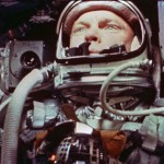 Mercury astronaut and future Senator John Glenn in orbit on the Friendship 7.
