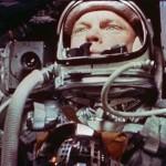 Mercury astronaut and future Senator John Glenn in orbit on the Friendship 7.