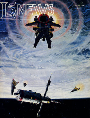 McCalls art graced this cover of the L5 News for January 1980.