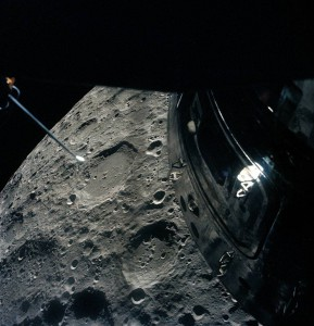 The view from Apollo 13, whose flight director Gene Kranz graduated from St. Louis University.