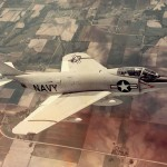 A McDonnell F3H Demon in flight in 1956.