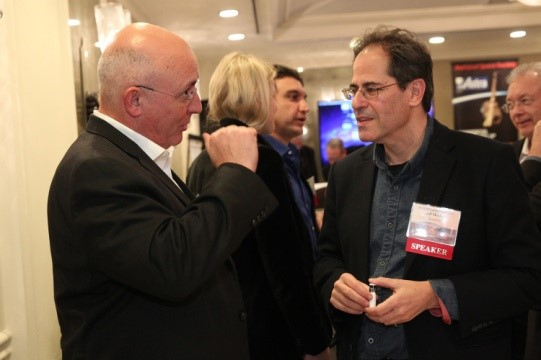 Michael Suffredini, President Axiom Space and Jeff Manber, CEO Nanoracks, exchange views at the Space Settlement Summit