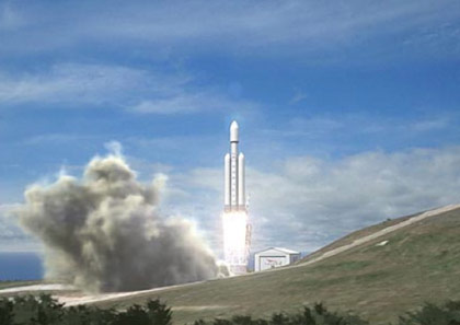 Falcon Heavy. (Image: SpaceX.)