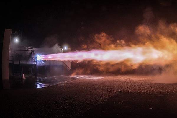 SpaceX Raptor engine test