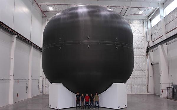 SpaceX has already built an ITS prototype composite fuel tank