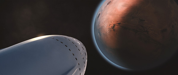 SpaceX ITS approaching Mars