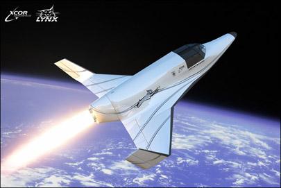 XCORs Lynx suborbital spacecraft. (Image: XCOR.)