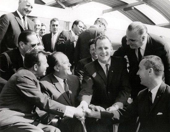 Yuri Gagarin, Ed White and Jim McDivitt
