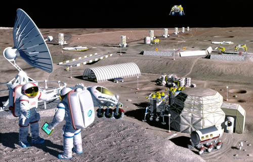 1994 lunar base studies LUNOX