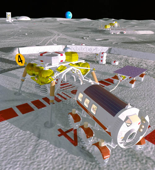 1994 lunar base studies Passenger module