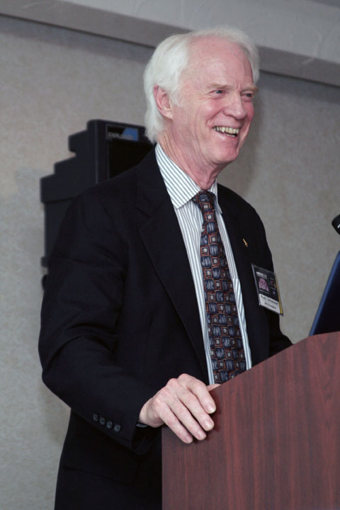 Apollo Astronaut Rusty Schweickart Smiling at 2006 International Space Development Conference