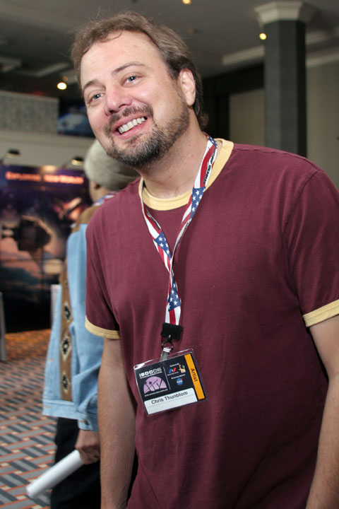 Artist Chris Thunblom at 2006 International Space Development Conference