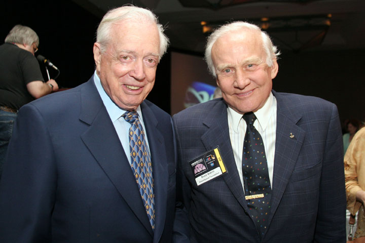 2006 ISDC Hugh Downs and Buzz Aldrin