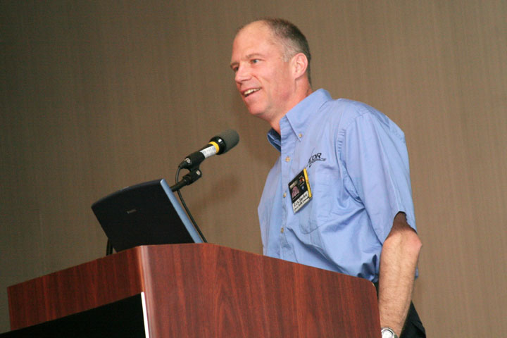 NASA Astronaut and Space Shuttle Commander Colonel Rick Searfoss at 2006 International Space Development Conference