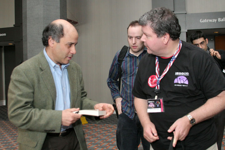 Robert Zubrin with conference attendees at 2006 International Space Development Conference