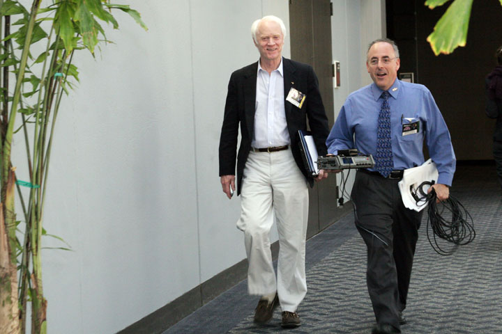 Rusty Schweickart and Planetary Society's Mat Kaplan at 2006 International Space Development Conference