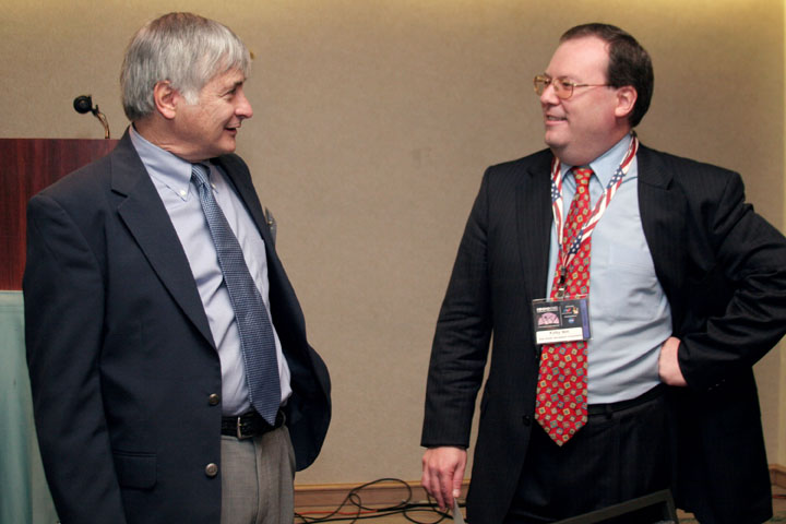 Seth Shostak of SETI, and Kirby Ikin of the National Space Society at 2006 International Space Development Conference