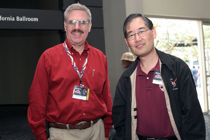 Star Trek artists Rick Sternbach and Michael Okuda at 2006 International Space Development Conference