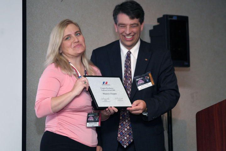 Veronica Ann Zabala of the Phoenix NSS Chapter Presented With NSS Chapter Excellence Award By Arthur Smith at 2006 International Space Development Conference