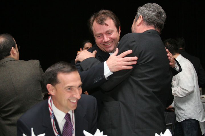 2006 ISDC Will Whitehorn Virgin Galactic and Brian Binnie at the Orbit Awards Dinner
