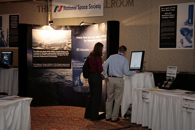 The ISDC 2008 display and ISDC information area at the International Space Development Conference