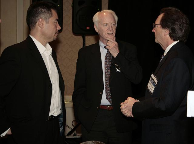 Alex Tai, Rusty Schweickart, and Scott Hubbard talk space at the International Space Development Conference