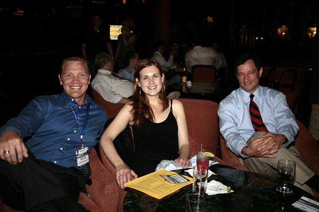 David Buck, Erin Spengler, and David Schuman relaxing at the International Space Development Conference