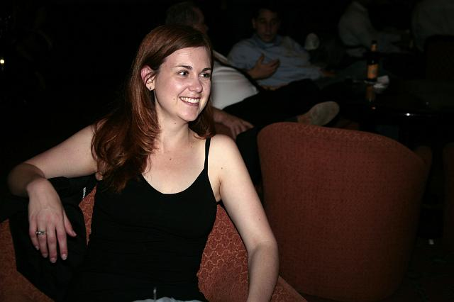 Erin Spengler relaxing at the International Space Development Conference