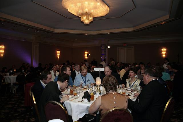 Guests enjoying dinner at the International Space Development Conference