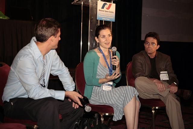 Andrew Hoppin, Jessy Cowan, and Robbie Schingler of NASA Ames speak about the NASA CoLab presence in Second Life at the International Space Development Conference