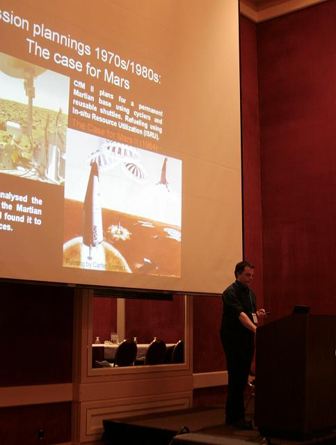 Human missions to Mars presentation at the International Space Development Conference