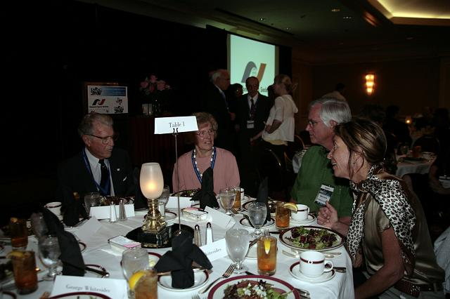 Guests enjoy dinner at the International Space Development Conference