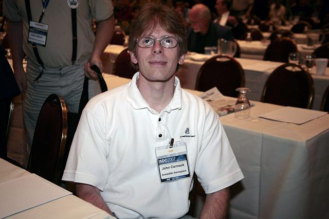 John Carmack, Armadillo Aerospace CEO, poses for the camera at the International Space Development Conference