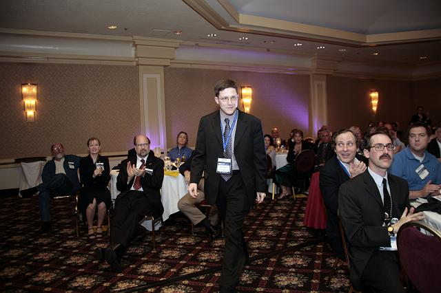 Josh Powers on his way to accept an NSS Award for Excellence at the International Space Development Conference