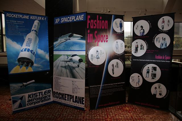 The Kistler Rocketplane and Fashion in Space displays at the International Space Development Conference