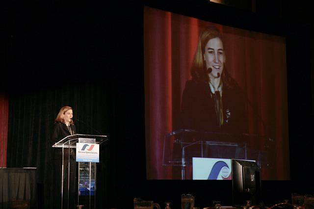 Loretta Hidalgo Whitesides of the Space Generation Foundation speaks about Yuir's Night at the International Space Development Conference
