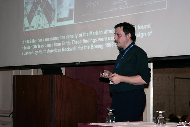 Discussing the exploration of Mars at the International Space Development Conference