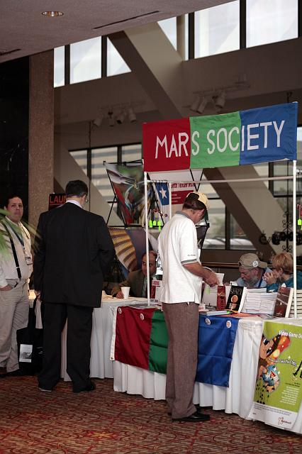 The Mars Society information booth at the International Space Development Conference