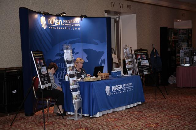 The NASA Federal Credit Union booth at the International Space Development Conference