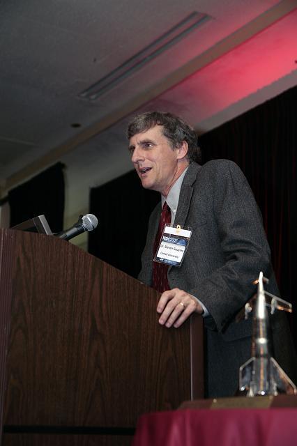 Principle investigator, NASA Mars exploration rover mission, Steven Squyres speaks at the International Space Development Conference