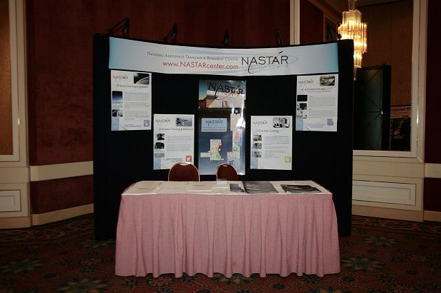 The NASTAR booth at the International Space Development Conference