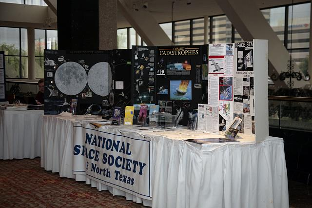 The booth of the National Space Society of North Texas, the local NSS chapter and conference host, at the International Space Development Conference
