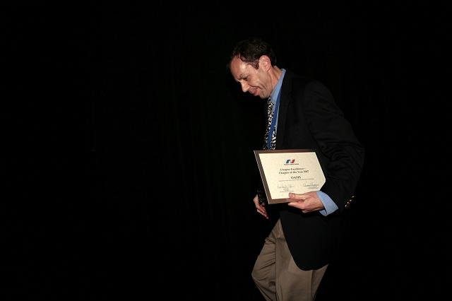 Seth Potter of the NSS OASIS chapter accepting the NSS Chapter Excellence: Chapter of the Year 2007 Award for the OASIS chapter