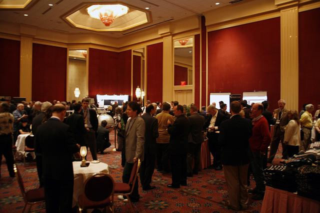 Guests mingle at the Space Venture Finance symposium reception, a part of the International Space Development Conference