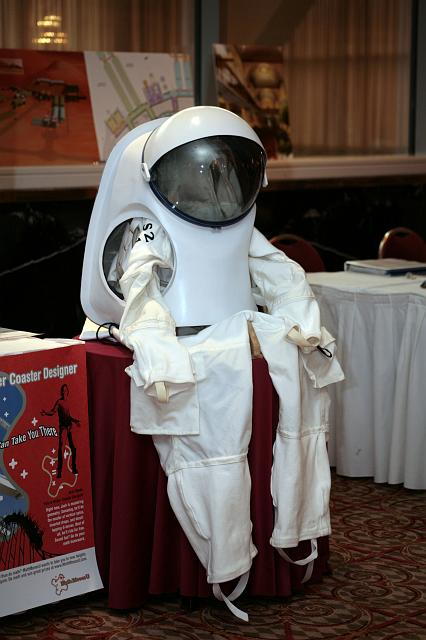 A spacesuit waits for you at the International Space Development Conference